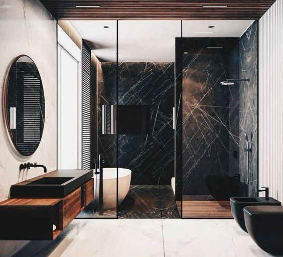 Just the perfect combination of black and dark wood. With a modern approach, thi...