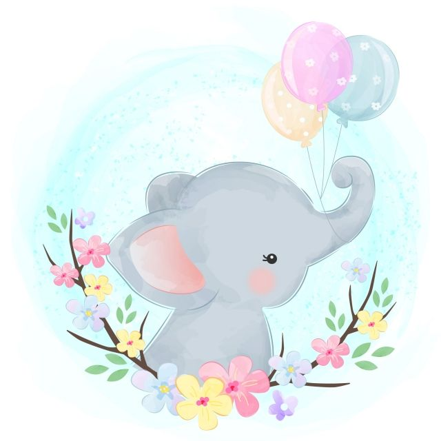 Cute Baby Elephant With Balloons Baby Elephant Clipart Adorable Animal Png And Vector With Transparent Background For Free Download Dibujos De Animales Tiernos Dibujo Animales Infantiles Dibujos Bonitos De Animales