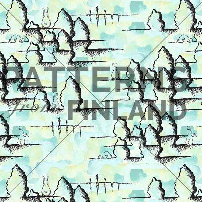 Waiting by Tiina Taivainen  #patternsfromfinland #tiinataivainen #patterns #finnishdesign