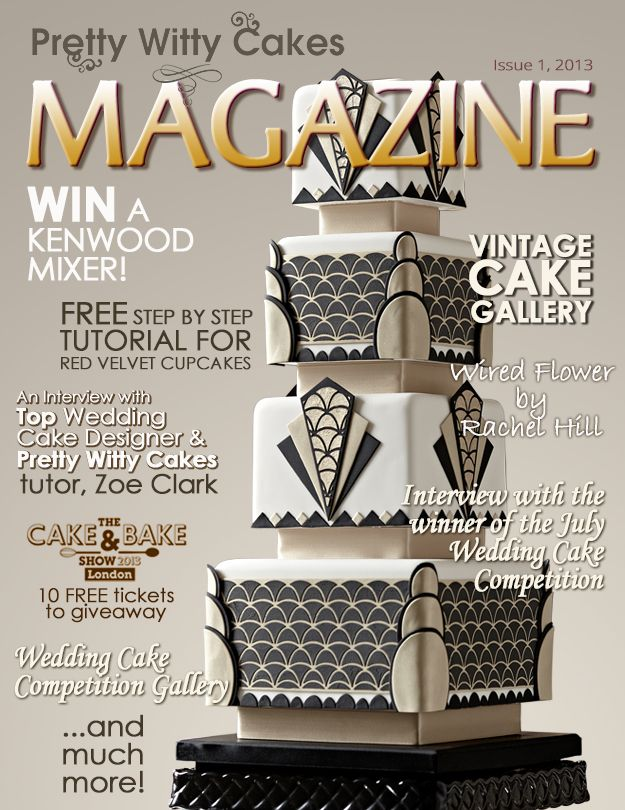 Issue 1 of the Pretty Witty Cakes Magazine jam packed with FREE cakey stuff! Sign up to the mailing list to ensure you get your free copy here https://www.prettywittycakes.co.uk/pretty-witty-cakes-magazine
