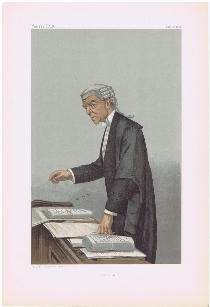 Date: 19-Nov-1903 The Vanity Fair Caricature of Mr. Robert Alfred K.C. McCall With the caption of : Ulsterman K.C. By the artist: SPY Visit www.theakston-thomas.co.uk for many more Vanity Fair Prints, we have one of the largest collections in the world.