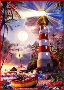 Tropical Lighthouse (117 pieces)
