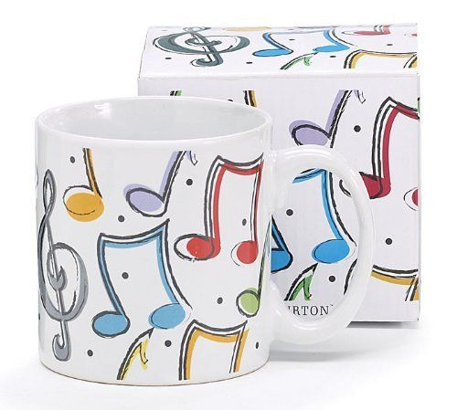 Mugs For The Music Lover Colorful Musical Notes Mug