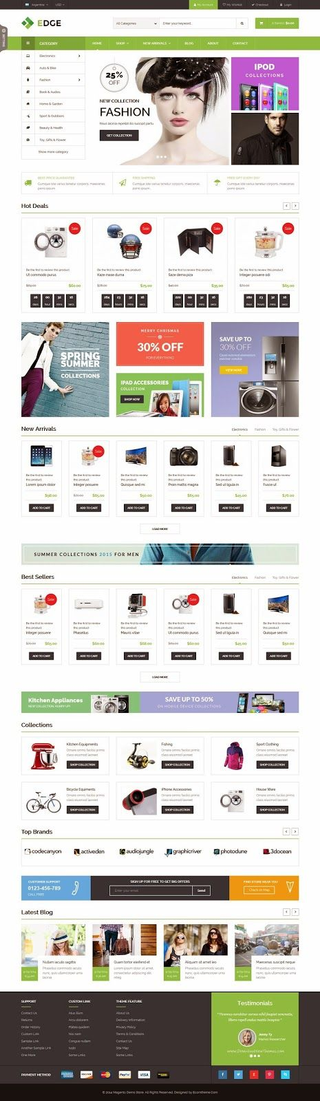 ET Edge Responsive Multipurpose Magento Theme 2015 #eCommerce #template