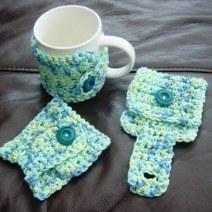 Cute gift idea...no more spilled coffee (or tea) due to hot cups.