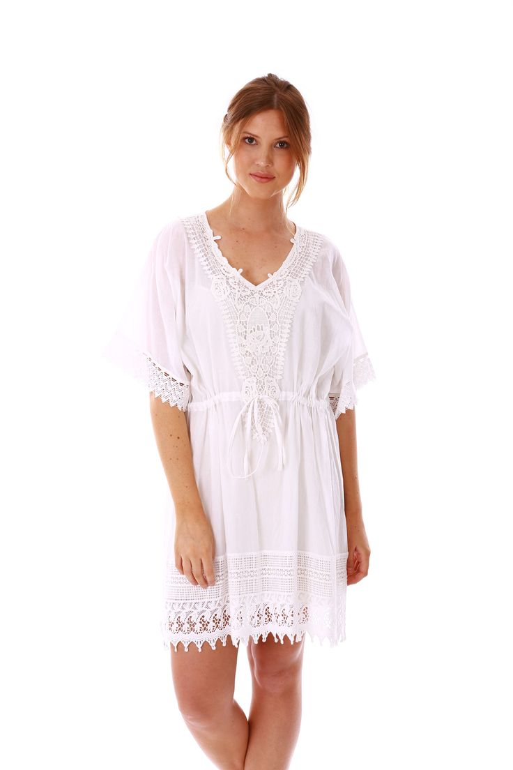 The Chantilly Dress (White) is made with beautiful Cotton.