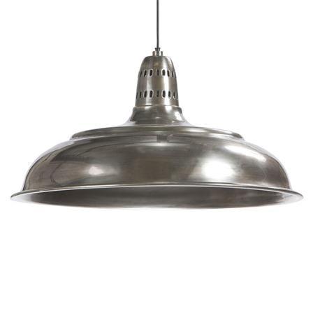 Lámpara de techo de estilo industrial Eleonar, plata envejecida
