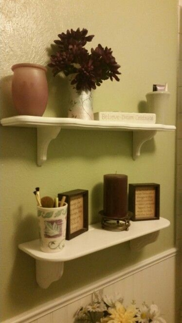 Shelves above toilet, from Esty's The Shabby Chateau   – House Stuff – #Chat…   – Shelvess