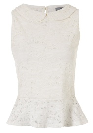 Broidery anglaise peplum top also available in blue, red and black from tesco clothing