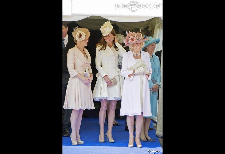 La comtesse de Wessex, Kate Middleton, duchesse de Cambridge, et Camilla Parker Bowles, duchesse...