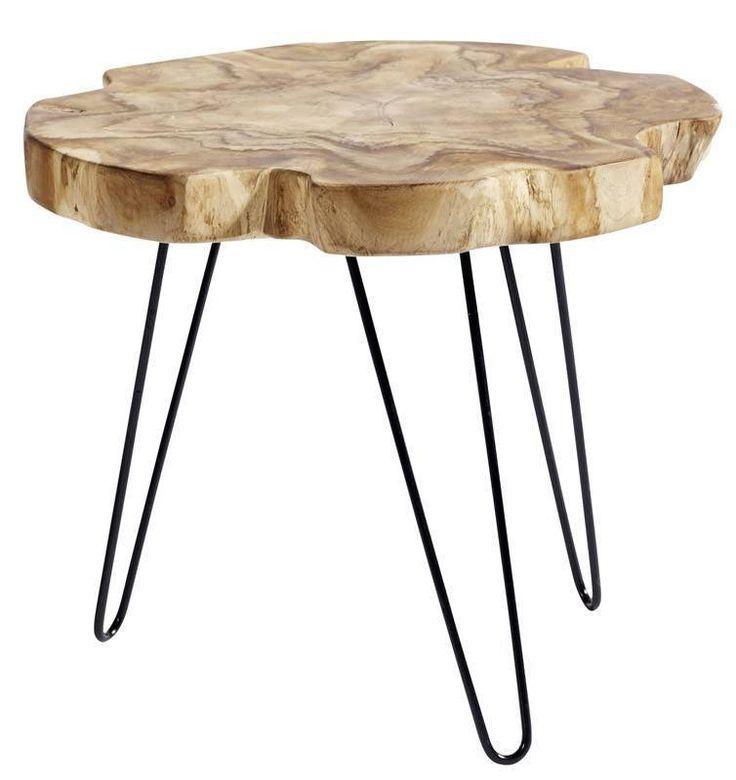Teakroot+Sofabord+-+Rustikt+sofabord+med+jernstel.+Dette+flotte+bord+er+lavet+i+genanvendt+teaktræ,+som+udover+at+være+rustikt+og+lækkert+også+er+skånsomt+ved+miljøet+