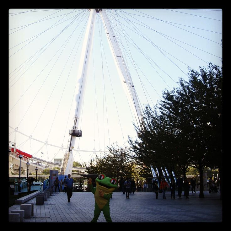 Have you seen Cha Cha out and about in the capital? Here he is visiting the London eye and adding another landmark to his list! http://www.therainforestcafe.co.uk