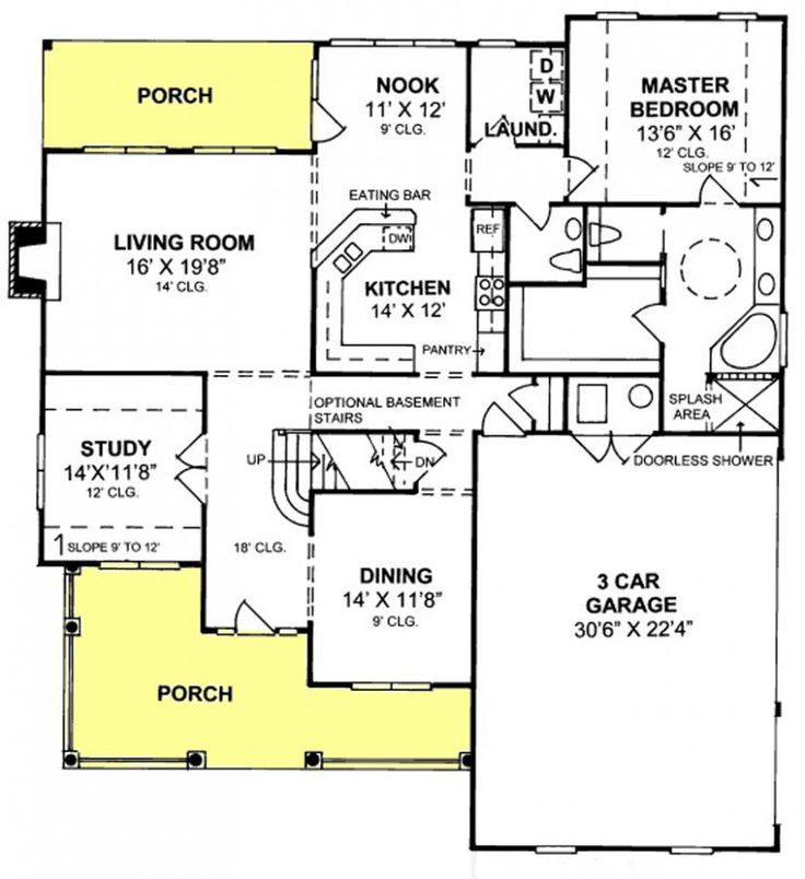 17 best house plans 2000 2800 sq ft images on pinterest for Walk in closet square footage