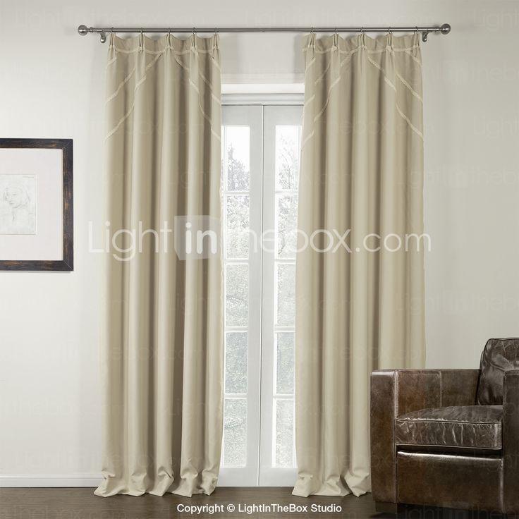 151 euro (Two Panels) Ivory Modern Room Darkening Curtain 2015