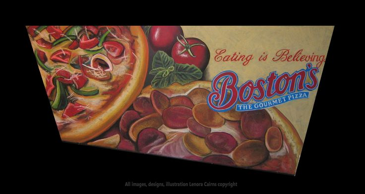 Chalkboard Menu Chalk Sign Art Illustration Boston Pizza Gourmet Pizza  by Lenora Cairns   www.hotgraphics.ca