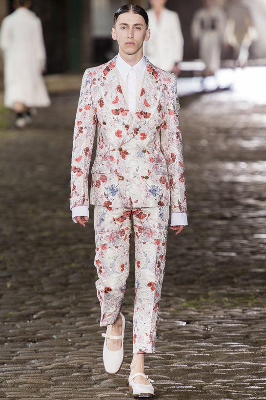 Tendances hommes - Les imprimés de l'été 2014 - Le défilé Alexander McQueen printemps-été 2014