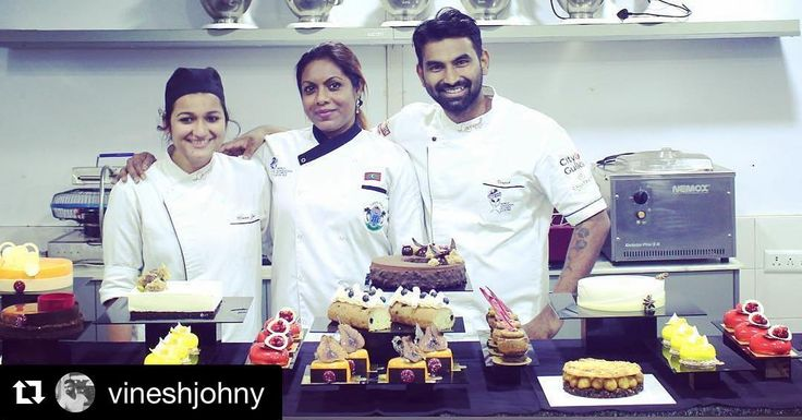 #Repost @vineshjohny with @repostapp  The only decent picture I have of the crazy master class I did for Maha from Maldives. 4 days of one on one training for this fabulous woman who will soon open the most fabulous Pâtisserie in Maldives. Super excited for her and her enthusiasm and energy is on another level. Mann Jain was a mini pastry monster helping me out with the Class.. Made over 20 desserts... Can't wait to have her back in June. She will be coming back to learn more from @niksya…