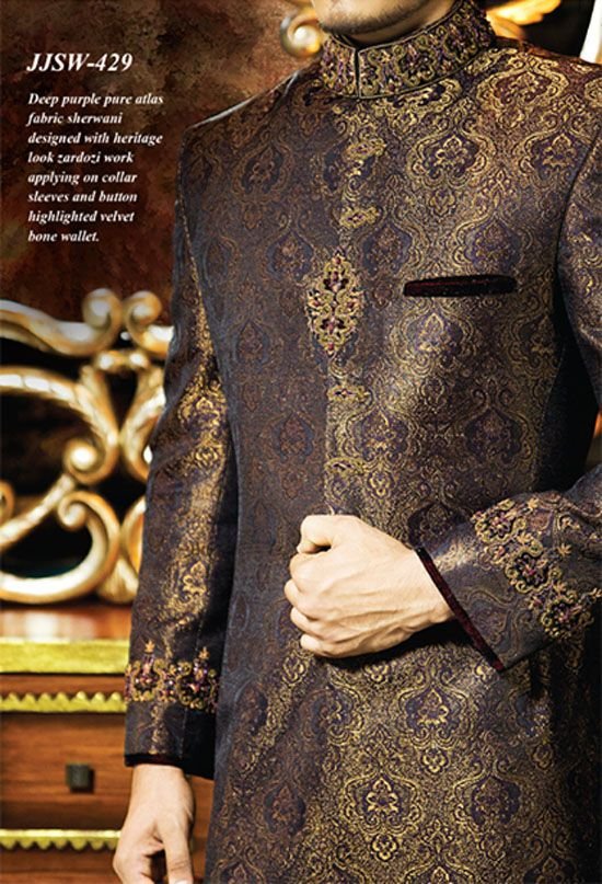 Junaid Jamshed Sherwani Dresses 2014-15 for Men 7