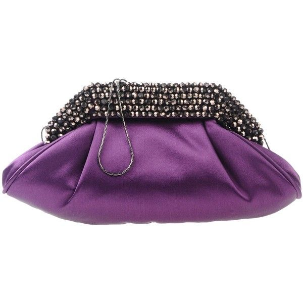 Chiara P Handbag ($170) ❤ liked on Polyvore featuring bags, handbags, purple, rhinestone purses, purple purse, rhinestone handbags, magnetic closure handbags and strap purse