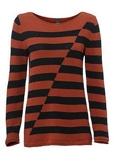 Csíkos pulóver