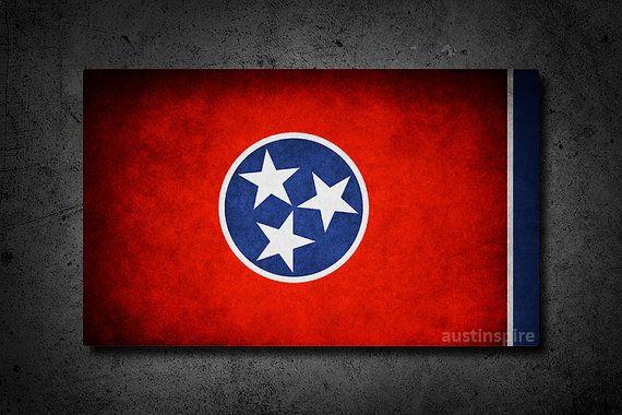 Tennessee Flag #wallart