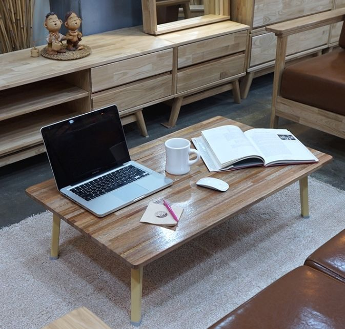 Wooden Japanese Style Floor Table Low Tatami Laptop Desk Folding Tea/Coffee  #Unbranded #
