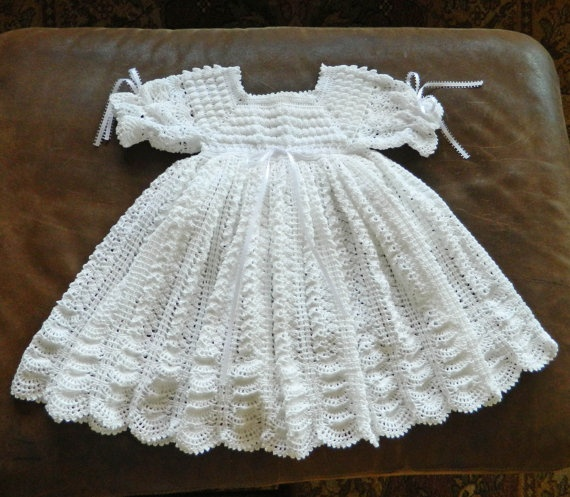 Free Knitting Patterns Baby Christening Dresses : 251 best images about Knitted Baby Dresses on Pinterest Free pattern, Baby ...
