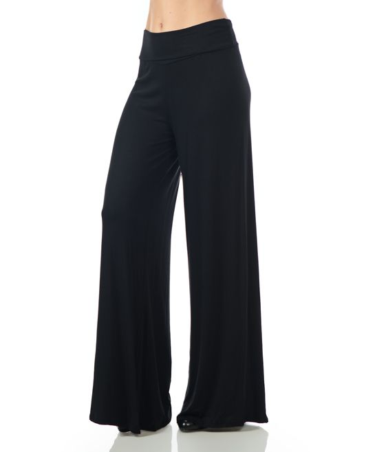 Featuring a loose, relaxed fit, these billowing palazzo pants deliver dramatic movement with every step.  Size S: 33.5'' inseamKnit95% rayon / 5% spandexMachine wash; tumble dryMade in the USA
