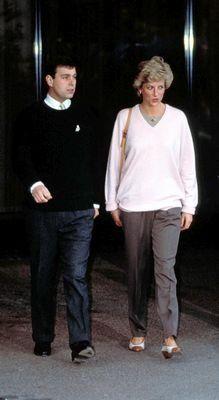Princess Diana with Prince Andrew.