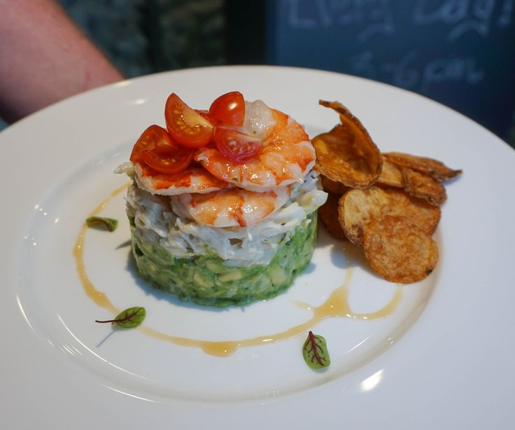 Avocado with Chilled Prawns & Crab Dip - Fanny Bay Oyster Bar