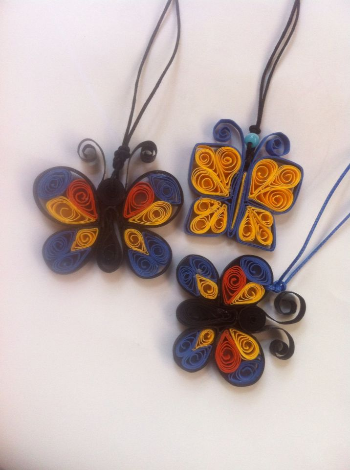 Quilling butterfly necklace