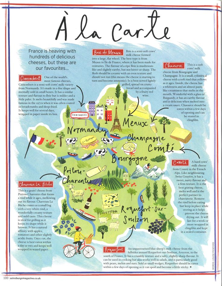 sainsburys mag map of french cheeses