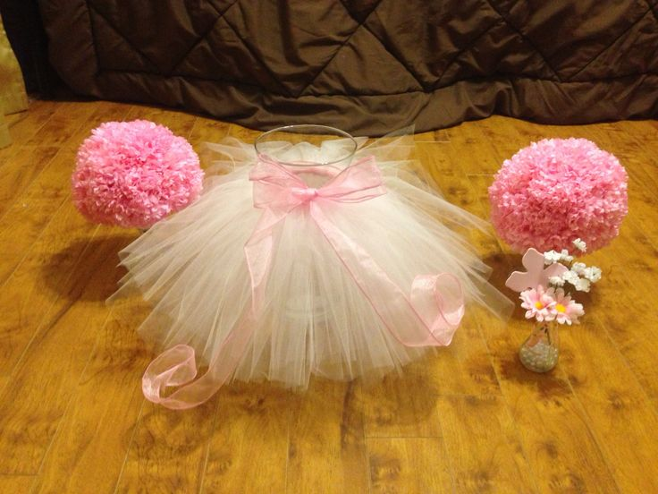 best  tutu decorations ideas on   tulle baby shower, Baby shower