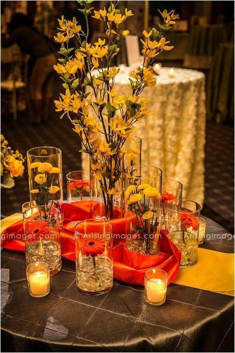 108 best images about yellow orange weddings on - Yellow and orange wedding decorations ...