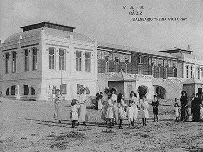 Foto antigua de la Playa de la Victoria #Cádiz