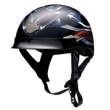Men's Hybrid Ultra-Light Old Glory Half Helmet | MotorClothes® Merchandise | Harley-Davidson USA