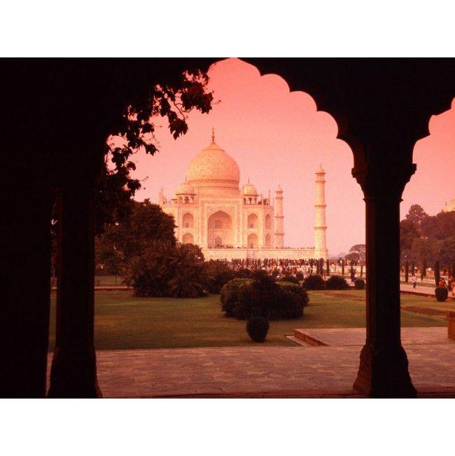 Stunning Architectural Wonder, Taj Mahal, India High Quality Removable Wall Mural