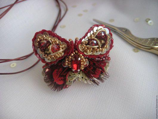 Кольца ручной работы. Ярмарка Мастеров - ручная работа. Купить Кольцо бабочка. Handmade. Комбинированный, кольцо-бабочка, украшение, перья