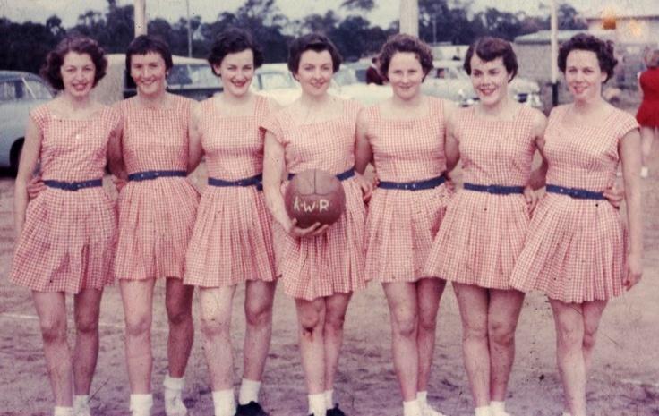 Vintage netball team
