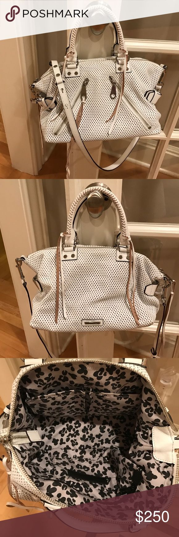 Rebecca minkoff purse White Rebecca minkoff bag. Comes with hand and shoulder strap so  Can be used as cross body if u prefer.  Excellent condition nwt. Rebecca Minkoff Bags Satchels