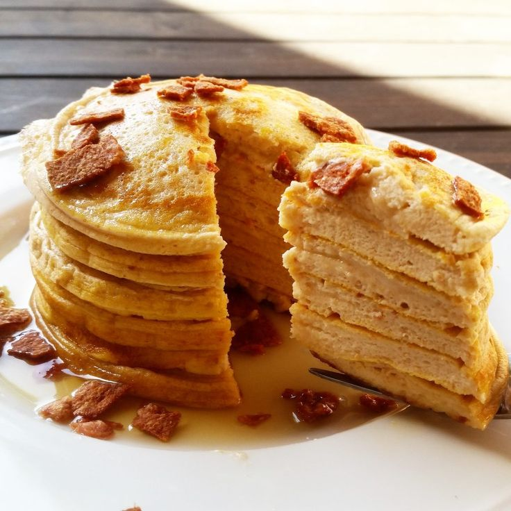 Maple Bacon Protein Pancakes