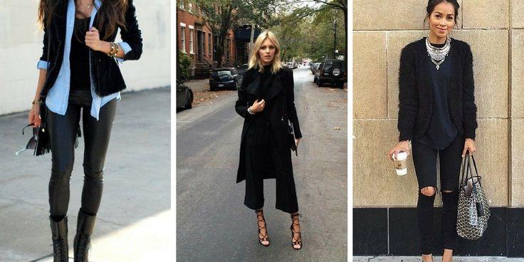 23 Möglichkeiten, schwarze Hosen zu tragen