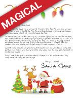 Free Printable Letters from Santa! Or Magical Letters too! Letters from Santa || www.easyfreeSantaLetter.com