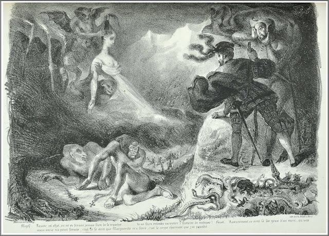 Eugène Delacroix (1798–1863), Nuit de Sabbat : l'Ombre de Marguerite…