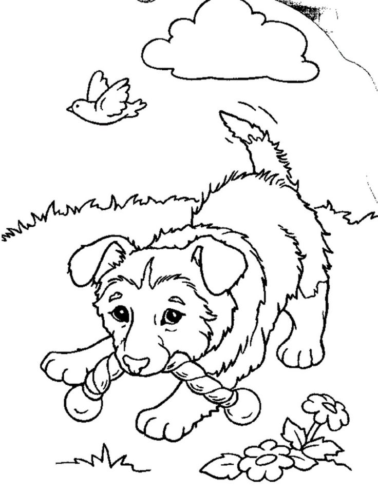 free puppies coloring pages