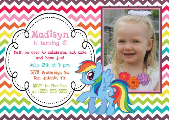11 best images about Kylies Birthday – My Little Pony Personalized Birthday Invitations