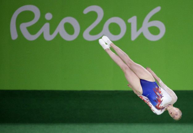 2016 is all about levitating trampoline people. | People Levitating At The Olympics Is The New Hottest Thing
