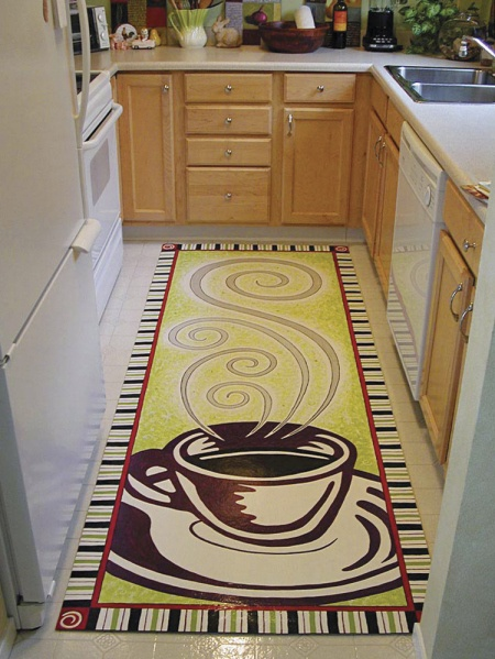 28 best images about painted floor mats on pinterest for Painted vinyl floor cloth