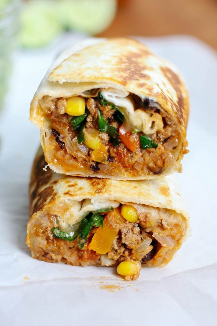 Beef Taco Burritos Recipe Easy Weeknight Meals Ground Beef Tacos Ground Beef