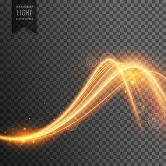 Efeito de luz elegante no estilo de onda